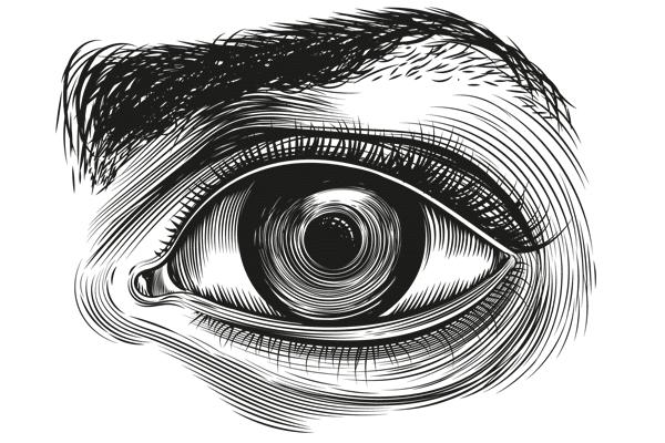Zeichnung offene Auge
