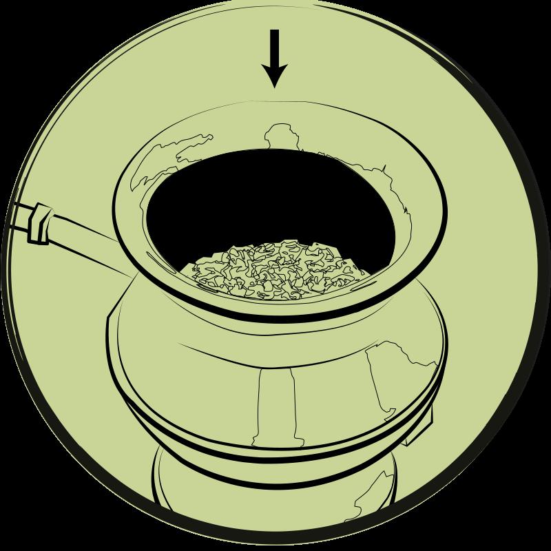 Halb volle Kalebasse
