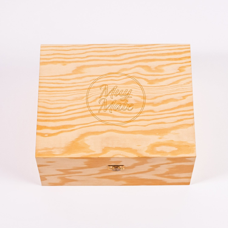 Muy Mate Geschenkbox aus Holz von Blumenfisch Berlin